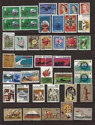 Australia  nice clean lot  of 40 Fine Used 1960s to 1970s stamps Free UK postage