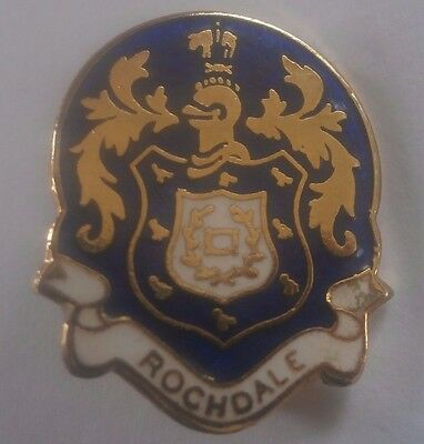 Rochdale Coat Of Arms Style Brooch Pin Badge Maker Reeves