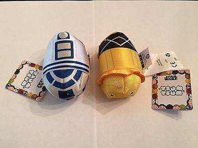 Star Wars Disney Tsum Tsums droids R2D2 and C3PO new with tags