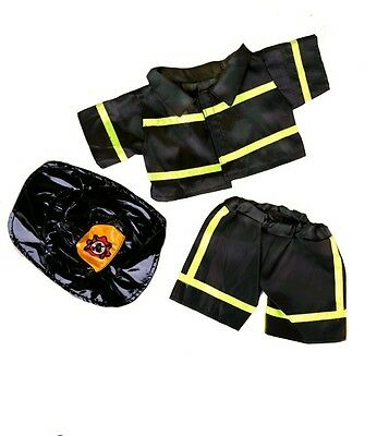 "Fireman Firefighter Outfit Teddy Bear Clothes to fit 8""-10"" bears"