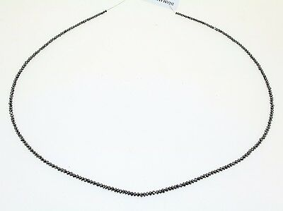Filo di Diamanti Neri 2-2,5 mm, 16,5 ct circa, lungo 38 cm Black Diamonds