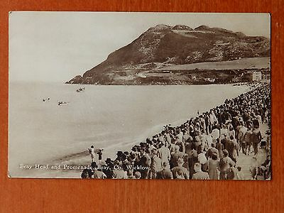 Photographic postcard: Bray Head & Promenade, Co. Wicklow Ireland