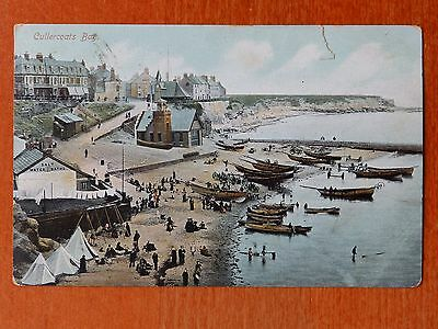 Ruddock hand coloured postcard: Cullercoats Bay, Northumberland. Lifeboat