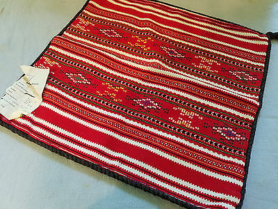 "Vintage Romanian cotton woven pillow cover 14"" x 14"" never used dated 1977"