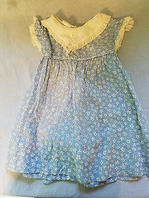 vintage Nannette girl's dress 1920's? light blue