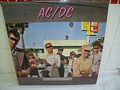 Ac/dc ~Dirty Deeds Done Cheap~1976 German Atlantic Vinyl Lp With Insert