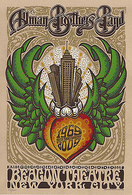 Allman Brothers Widespread Panic 40th Anniversary NYC Drowning Creek Poster