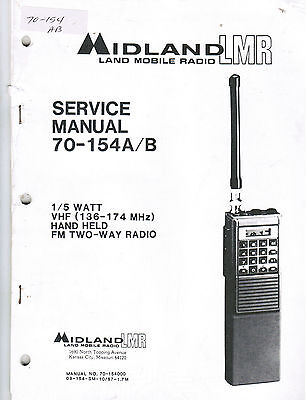 MIDLAND Manual 70-154A/B VHF Hand Held LMR