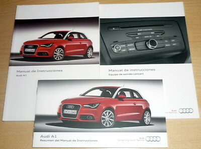 Manual de instrucciones,Audi A1,owner's manual, Spagnolo anno 2012
