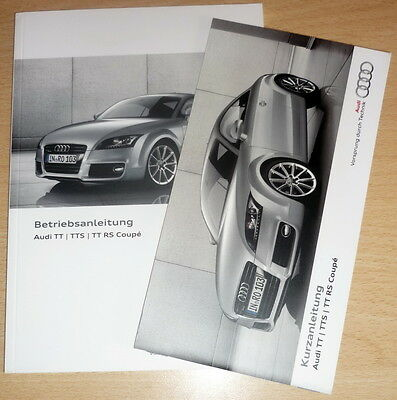Betriebsanleitung,Audi TT,TTS, TT RS,owner's manual, Tedesco anno 2013