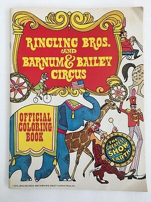 Ringling Bros. and Barnum & Bailey Circus Official Coloring Book 1976