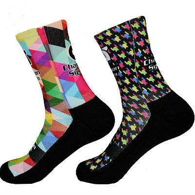 Cycling Socks Team Colorful Protect Feet Breathable Cool Run MTB Road Bicycle