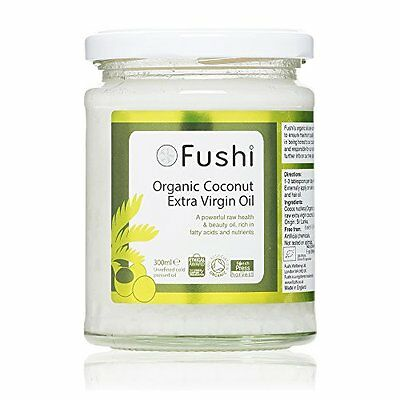Fushi Extra Virgin Sri Lankan Coconut Oil 250g/300ml, Organic Cold Pressed