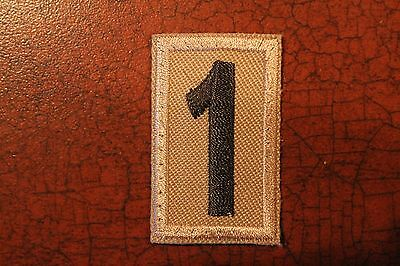 BOY CUB SCOUT TROOP PACK NUMBER # 1 PATCH - OLIVE GREEN & TAN - BSA x
