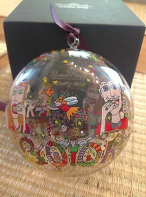 James Rizzi Christmas in New York Rosenthal Glaskugel Christbaumkugel, 12cm