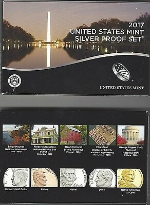 USA: United States Mint Silver (Silber) Proof Set 2017, 2,91 Dollar