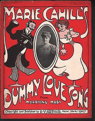 Dummy Love Song 1907 Large Format Marie Cahill in Marrying Mary Sheet Music