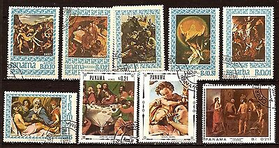170 PANAMA Paintings from the vie de Jesus. 9 stamps canceled