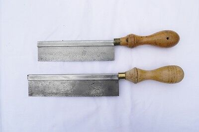 Pair of small Vintage Back saws