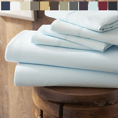 Home Collection Premium 4 Piece Bed Sheet Set -FREE BONUS PILLOWCASES!