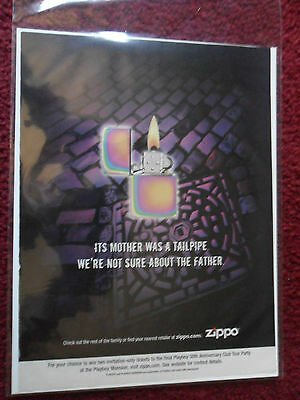 2004 Print Ad Zippo Lighters ~ It's Mother was a Tailpipe, Not Sure About Father