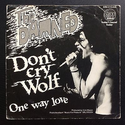 "THE DAMNED DON't Cry Wolf MEGA RARO CLASSICO OLANDESE 7 "" Film Manica SOLO PUNK"