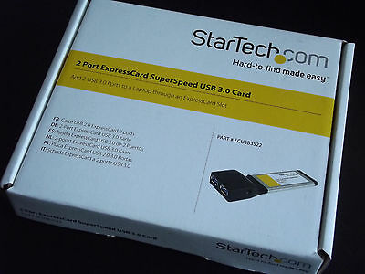 Startech 2 Port ExpressCard SuperSpeed USB 3.0 Card