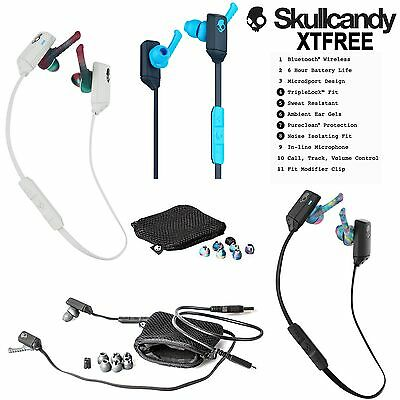 New Skullcandy XTFREE Wireless Bluetooth 4.0 Ear buds XT Free with Mic