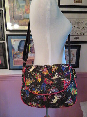 Laurel Burch Bag Crossbody Or Shoulder Style Angel Cats With Wings