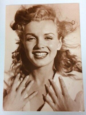 MARILYN MONROE 80s POSTCARD 1949 sepia close up smiling by Andre De Dienes