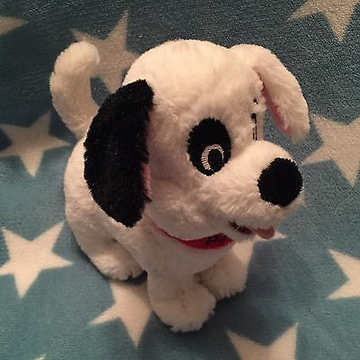 NEW 101 Dalmatians Patch Soft plush toy Cuddly Puppy Dog Disney Store 8""
