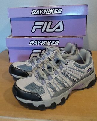 Women's Fila Day Hiker Trail Shoes Cream/Grey/Lila size variation