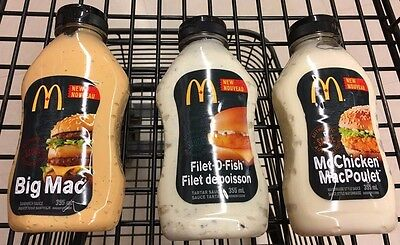 McDonald's Big Mac Sauce, Filet-O-Fish Sauce Or McChicken Sauce Canada