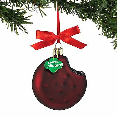 Girl Scouts® Thin Mints Cookie Glass Ornament Dept 56 Christmas New