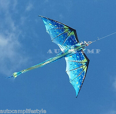 Ice Dragon kite 6Ft  Windsock Kite c/w line rig for vw show & festy fave