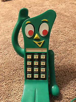 Vintage Retro 1985 Gumby Toy Character Figural Telephone Phone Original Cord