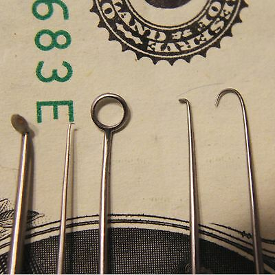 Vintage- 10 Surgical Instruments for Eye Surgery - Very Fine - See Photos!!!