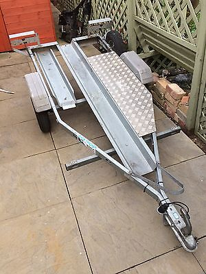 Galvanized Single Motorcycle Towing Trailer (Track Days)