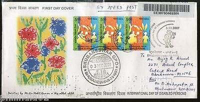 India 2007 Int'al Day Disabled Person Braille Sc 2222 Commercial Used FDC -11