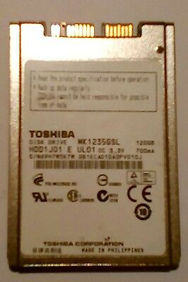 "1.8"" Toshiba MK1235GSL 5MM 120GB Hard Drive"
