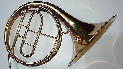 Antique mid 19th cent Orsi Natural French Horn with 4 crooks 1 slide
