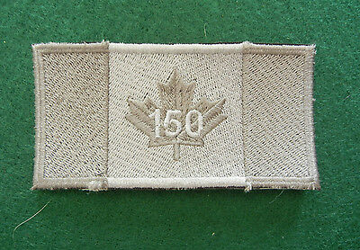 """Canada Tactical 150 Anniversary Patch , Gray,  2"""" X 4"""""""