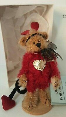 Deb Canham 'mummys Little Monster' Have A Heart Collection Miniature Teddy Bear