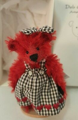 Deb Canham Ruby Red Bear Have A Heart Collection LE 793/800