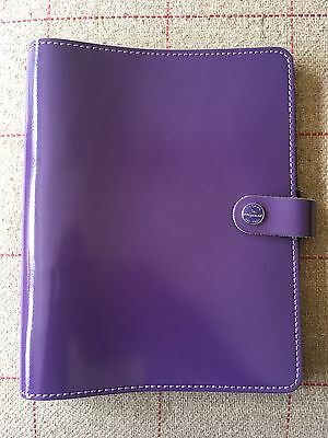 Filofax The Original A5 Personal Organiser In Purple Real Leather Made In The UK