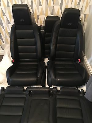 Vw Golf Mk6 R Leather Seats 5 Door Front And Rear Gti Gtd R32