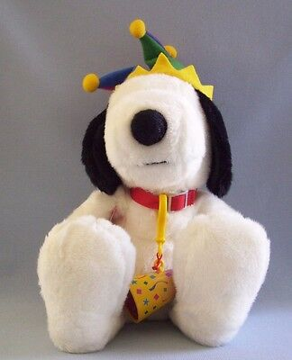 Snoopy Macy's Millennium Plush Jester Light Up Noise Maker Cone Peanuts New Tag