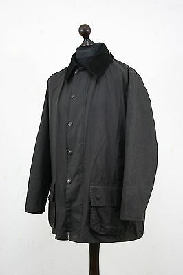 BARBOUR Men's A145  Beaufort Waxed Jacket Black size C 46 / 117 cm England