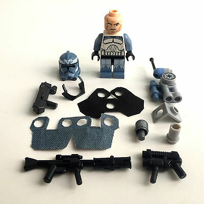 LEGO Star Wars Custom Clone Commander Wolffe + Custom Helm & Equipment