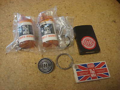 The Who Lighter, Keychain, Pin, JBL Mini Flashlights Lot
